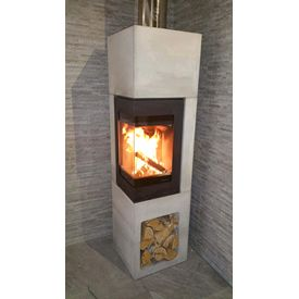 Nordpeis Contemporary Wood burning corner stove