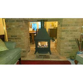 Yeoman Devon Gas Stove Double Sided with canopy