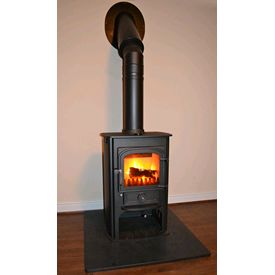 Clearview Solution 400 in charcoal grey - 5kw convection stove