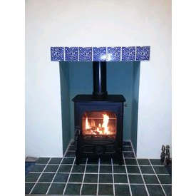 4kw woodburner and tiled hearth