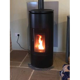 MCZ wood pellet stove on display at Waveney Stoves and Fireplaces