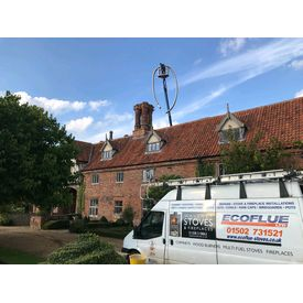 Using a cherry picker at Hales Hall