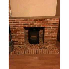 Reclaimed brick fireplace built in Beccles , Suffolk